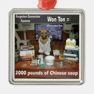 Knowledge Dog Forgotten Conversions Won Ton Metal Ornament