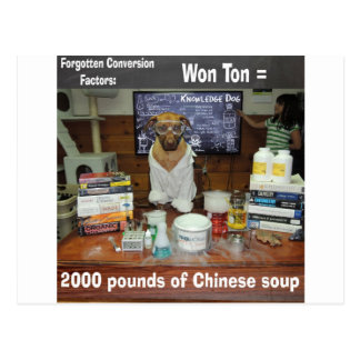 Knowledge Dog Forgotten Conversions Won Ton Postcard