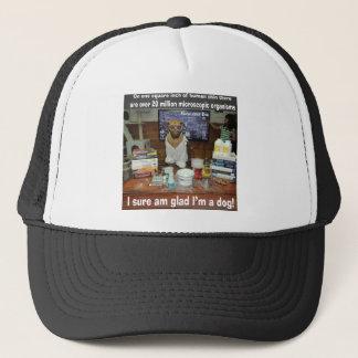 Knowledge Dog Microscopic Organisms on Skin Trucker Hat