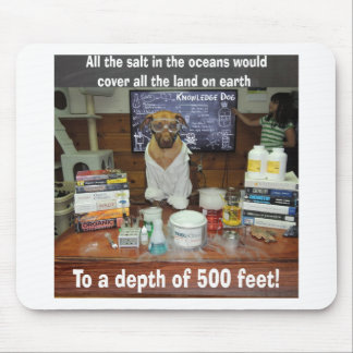 Knowledge Dog Salt in the Oceans Mouse Pad