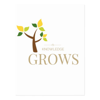 Knowledge Grows Postcard