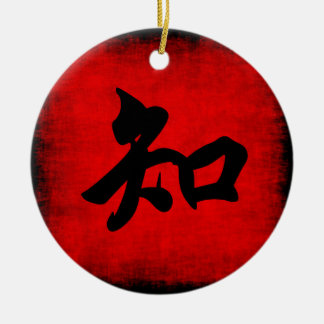 Knowledge in Chinese Calligraphy Ceramic Ornament