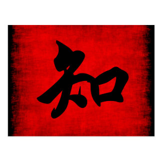 Knowledge in Chinese Calligraphy Postcard