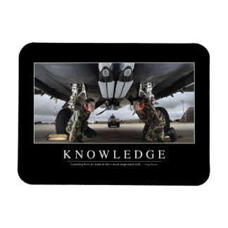 Knowledge: Inspirational Quote Magnet