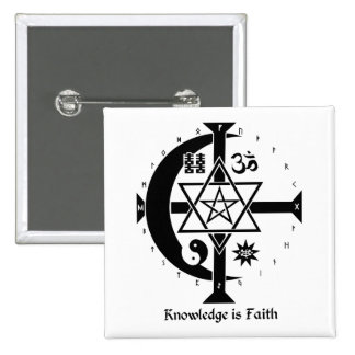 Knowledge is Faith Pinback Button