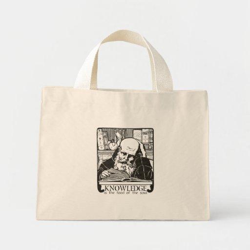 Knowledge is Food Mini Tote Bag