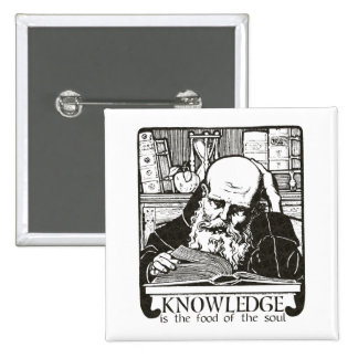 Knowledge is Food Pinback Button
