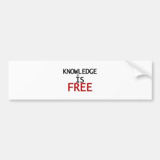 knowledge is free bumper sticker