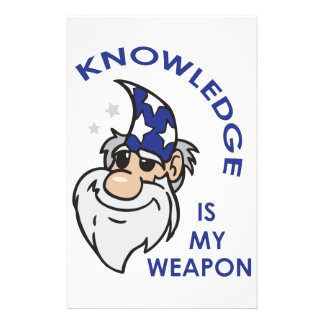 Knowledge Is My Weapon Customized Stationery