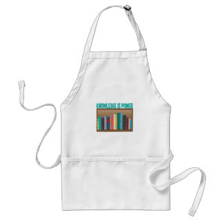 Knowledge Is Power Adult Apron