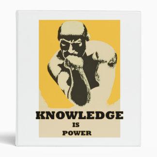 Knowledge is Power Avery Binder