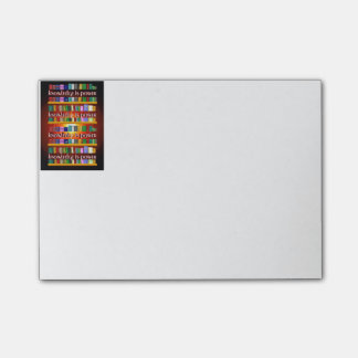 Knowledge is Power Bookscase Post-it Notes