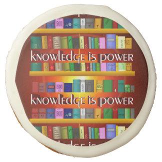 Knowledge is Power Bookscase Sugar Cookie