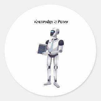 Knowledge is Power Classic Round Sticker