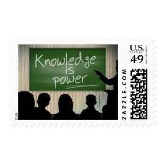 Knowledge is Power Classroom Chalkboard Stamp