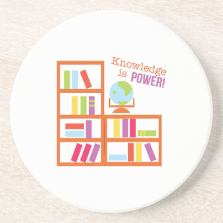 Knowledge Is Power! Beverage Coaster