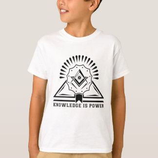 Knowledge is Power Cool Geometric Design T-Shirt