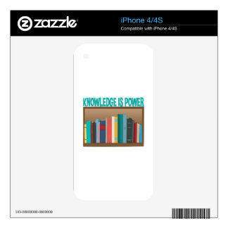 Knowledge Is Power Decal For iPhone 4