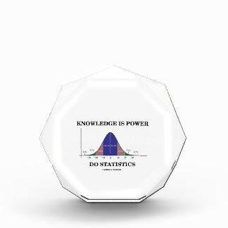 Knowledge Is Power Do Statistics Bell Curve Humor Acrylic Award