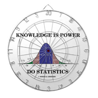 Knowledge Is Power Do Statistics Bell Curve Humor Dart Board