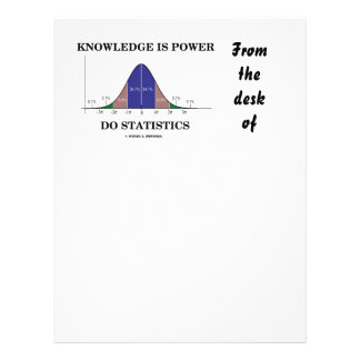 Knowledge Is Power Do Statistics Bell Curve Humor Letterhead