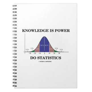 Knowledge Is Power Do Statistics Bell Curve Humor Notebook