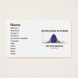 Knowledge Is Power Do Statistics Business Card