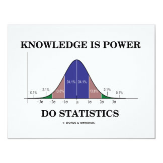 Knowledge Is Power Do Statistics (Stats Humor) Card