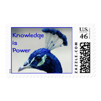 Knowledge is Power postage stamp