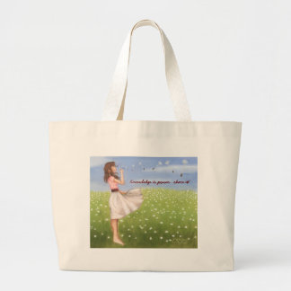 Knowledge is power...share it! tote bags