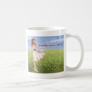 Knowledge is power...share it! coffee mug