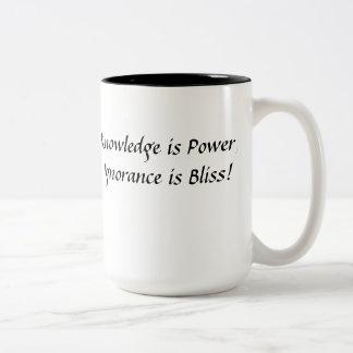 knowledge is Power! Two-Tone Coffee Mug