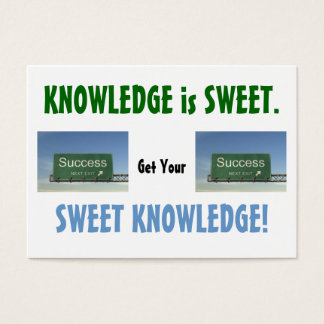 KNOWLEDGE IS SWEET #3 BUSINESS CARD