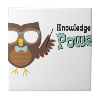 Knowledge Owl Ceramic Tile