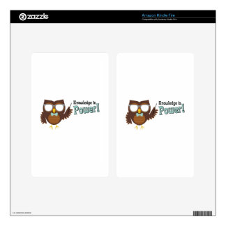 Knowledge Owl Kindle Fire Decals