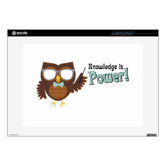 Knowledge Owl Skin For Laptop