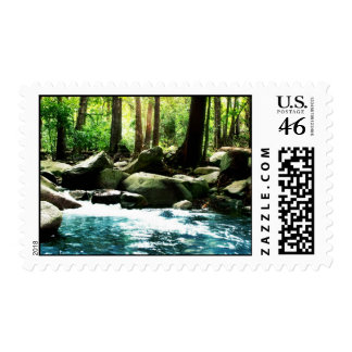 Knowledge Talks, Wisdom Listens Mountain Stream Stamp