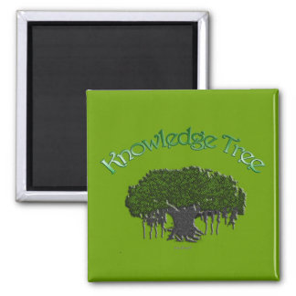 Knowledge Tree 2 Inch Square Magnet