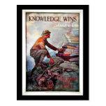 Knowledge Wins Postcard