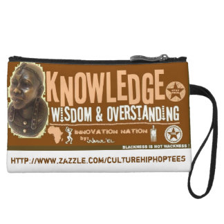 Knowledge Wisdom cell phone pouch Wristlet