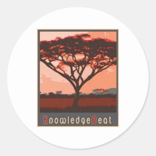 KnowledgeBeat Classic Round Sticker