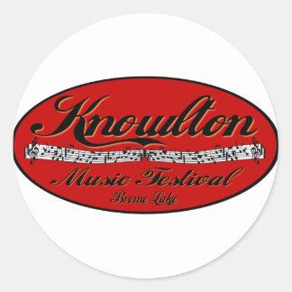 Knowlton Music Festival Red Spot Classic Round Sticker