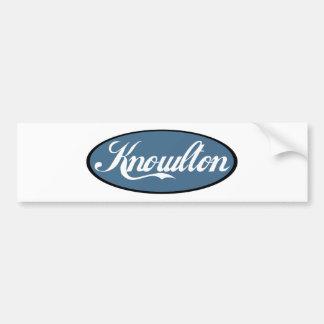 Knowlton Quebec Scripted Souvenirs Bumper Sticker