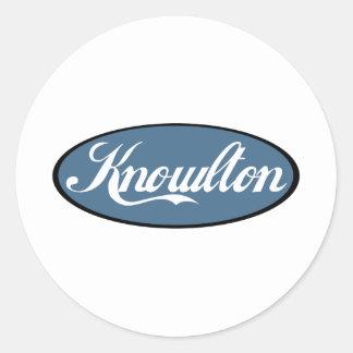 Knowlton Quebec Scripted Souvenirs Classic Round Sticker