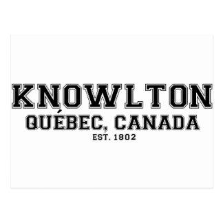 Knowlton Quebec Souvenirs Postcard