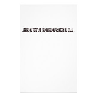 Known Homosexual Stationery