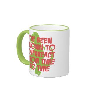 Known To Overreact Ringer Coffee Mug