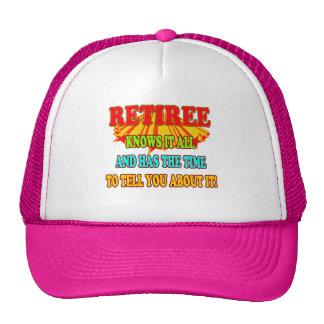 Knows It All Retiree Trucker Hat