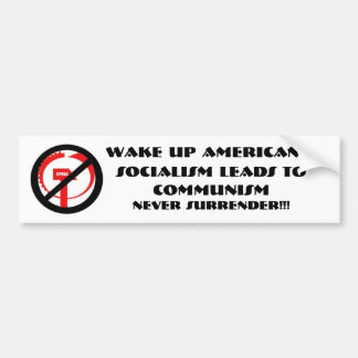 knowtheenemy, Wake Up Americans,, Socialism lea... Car Bumper Sticker