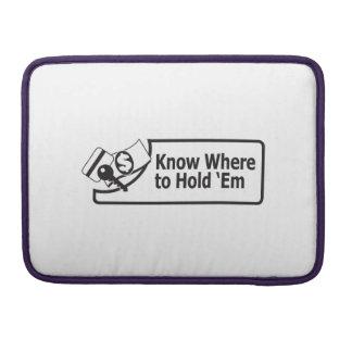 """Knowwheretoholdem Macbook Pro 13"""" MacBook Pro Sleeves"""